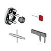 Adaptateur blocage roues FRU 345-C, pour roues sans trou central ou avec bridage spécial